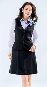 Aラインスカート ミニヘリンボーン 362302