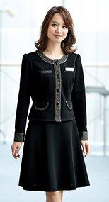 51693 en joie(アンジョア) 女性らしいシルエットを演出するフレアースカート 無地 93-51693