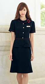 56462 en joie(アンジョア) 清涼感があり夏でも快適なマーメイドスカート(55cm丈) 無地 93-56462