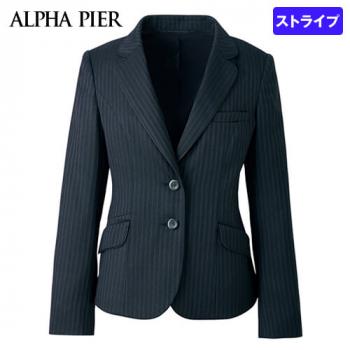 AR4847 アルファピア [通年]ジャケット ストライプ[防シワ商品] 40-AR4847