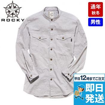 RS4601 ROCKY スタンドカラーシャツ(男性用)