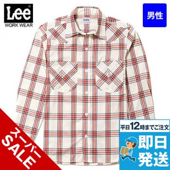 LCS46006 Lee ウエスタンチェックシャツ/長袖(男性用)