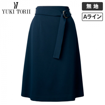 YT3308 ユキトリイ Aラインスカート 無地(ベルト付) 40-YT3308