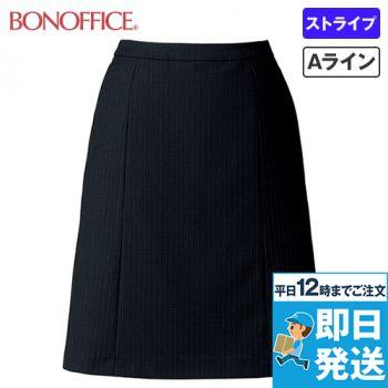 BONMAX AS2286 [通年]オピニオン Aラインスカート ストライプ 36-AS2286