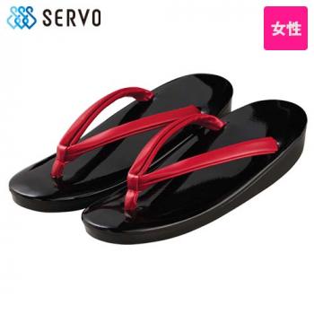 OD152 SUNPEX(サンペックス) 黒草履(女性用) 赤鼻緒