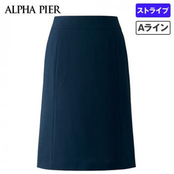 AR3668 アルファピア Aラインスカート ストライプ