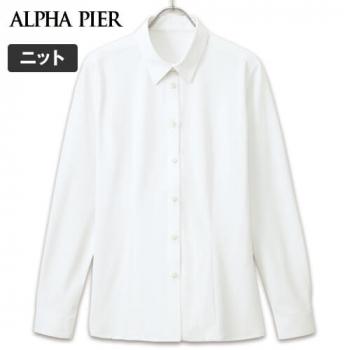 AR1486 アルファピア [通年]長袖ニットシャツ ドット 40-AR1486