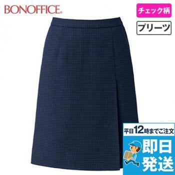 LS2200 BONMAX/オプティカルチェック プリーツスカート 36-LS2200