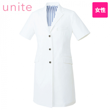 UN-0082 UNITE(ユナイト) 半袖ドクターコート(女性用)