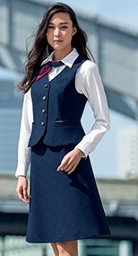 S-16541 16549 パトリックコックス Aラインスカート ブラインドチェック 99-S16541