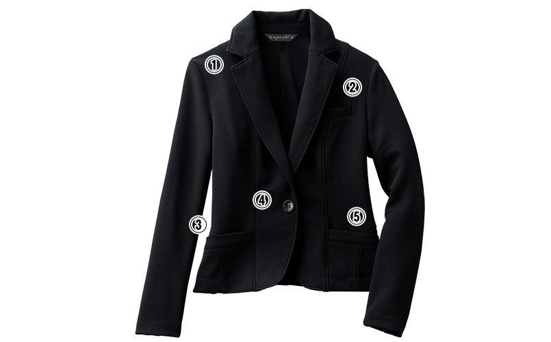 アンジョア81450ジャケットのこだわりポイント