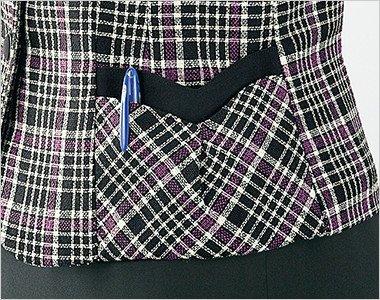 二重構造ポケットで、いろいろな小物を仕分けして入れられる両脇ポケット