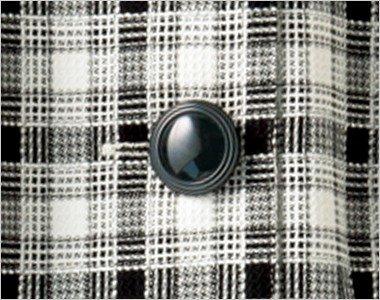 宝石のようなふくらみのある黒ボタン