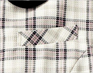 ネームプレートとペンなどを区分け収納できる名札ポケットと左胸ポケット