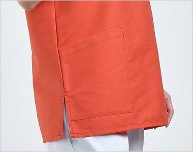 両腰ポケット付き ダブつかずにすっきりとした胴回り