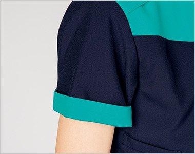 折り返して着られる袖デザイン