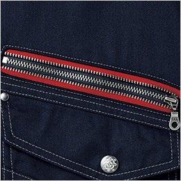 右胸ポケット デザインファスナー