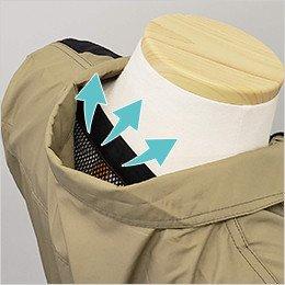ウェアと首の後ろの間を風・空気が通るので、涼しさアップ