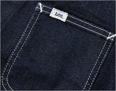 Leeのピスネームの付いた左胸ポケット