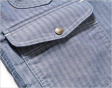 深さのある左右のフラップ付ポケット