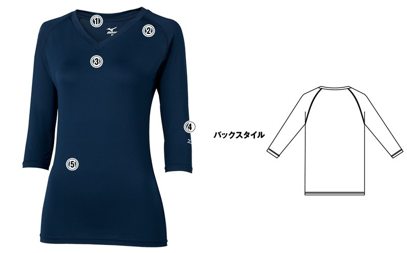MZ-0134 ミズノ(mizuno) アンダーウェア(女性用)スクラブインナーのこだわり画像