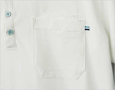 左胸 PHSが収納できる二重ポケット