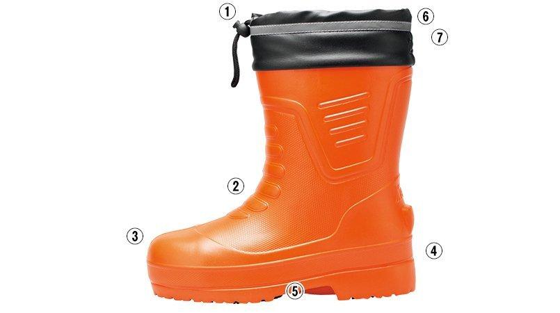 ジーベック 85715EVA軽量防寒ショート丈長靴のこだわりポイント