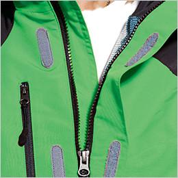 左胸 スライダーで閉じるポケット