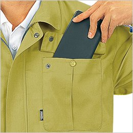 両胸フラップポケット