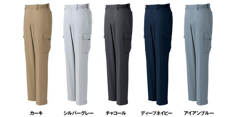 AZ30551 アイトス ペンタスストレッチ カーゴパンツ(ノータック) (男女兼用) 色展開