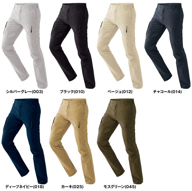 AZ7843 アイトス ストレッチパンツ(男女兼用) 総ゴム 色展開