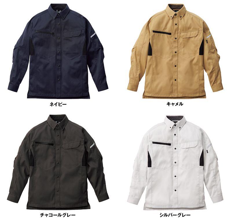 RS4902 ROCKY 長袖シャツ(男女兼用) バーバリー 色展開