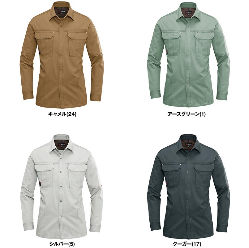 バートル 8035 チノクロス長袖シャツ(綿100%)(男女兼用) 色展開