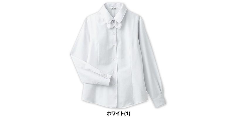 BL-6814 チトセ(アルベ) プチプライスでお得!リボン付きブラウス/長袖(女性用) 色展開