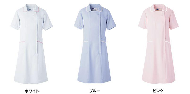 自重堂WHISEL WH11200 ワンピース ゆったりスクエア襟 パイピング(女性用) 色展開
