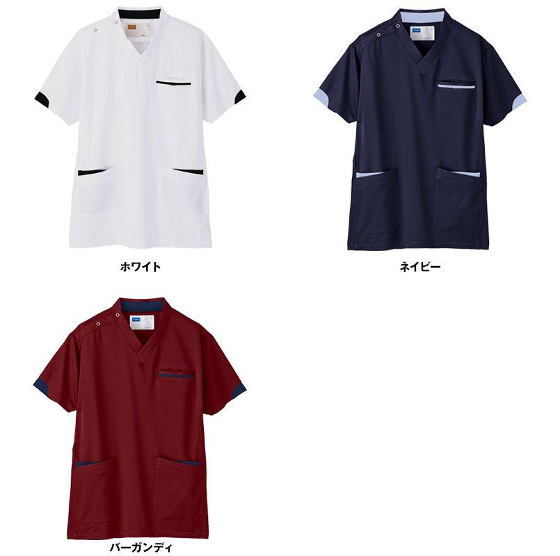 WH11985 自重堂WHISELスクラブ(男女兼用)袖口配色 色展開