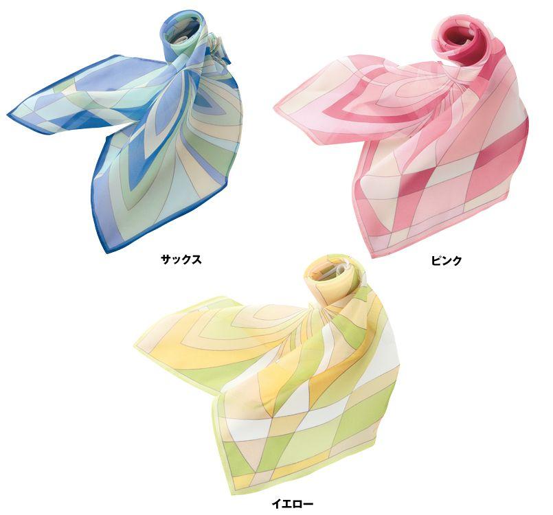 EAZ252 enjoy 甘く優しげな雰囲気が漂うパステルカラーのスカーフ 色展開