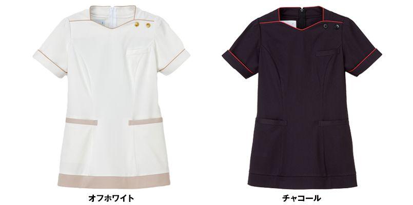 LH6282 ナガイレーベン(nagaileben) ビーズベリー チュニック/半袖(女性用) 色展開