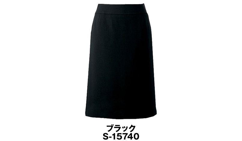 S-15740 SELERY(セロリー) [春夏用]立体設計でお腹をカバーしてスッキリ見せるセミAラインのスカート 無地 色展開