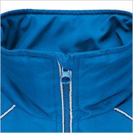 AZ2204 アイトス リフレクトジャケット(中綿)(男女兼用) アゴにファスナーが当たるのを防止してノドを守るチンガード