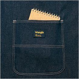 AZ64380 アイトス Wrangler(ラングラー) 胸当てエプロン(男女兼用) 両脇 大型フロントポケット