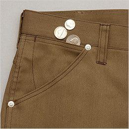 AZ64450 Wrangler(ラングラー) ノータックワークパンツ(男女兼用)  鍵や小物の収納に便利なサブポケット付きのポケット