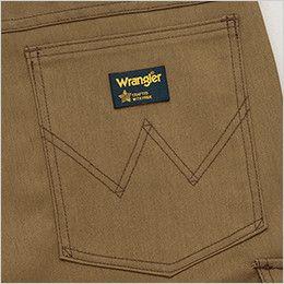 AZ64450 Wrangler(ラングラー) ノータックワークパンツ(男女兼用) ブランドロゴを象徴的に魅せるデザインステッチ入りの右側ヒップポケット