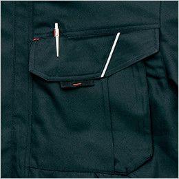 AZ8461 アイトス エコノミー防寒ブルゾン[フード付き・取り外し可能] 胸ペン差し