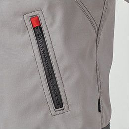 RJ0911 ROCKY ブルゾン(男女兼用) オックスフォード ファスナー式腰ポケットは、作業中の商品や建材などへの傷付きを防止するスライダーキャップ付き