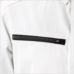 RS4902 ROCKY 長袖シャツ(男女兼用) バーバリー 物の落下を防ぐファスナー仕様(スライダーキャップ付き)