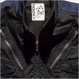 RV1903 ROCKY フライトベスト コンビネーション(男女兼用) ファスナーポケット
