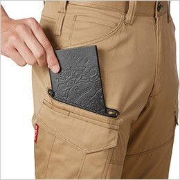 バートル 1702 T/Cソフトツイルカーゴパンツ(男女兼用)  長財布・レベルブック収納ポケット(深さ23cm)