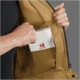 バートル 1716 [春夏用]T/Cライトチノ半袖ジャケット(男女兼用) 内ポケット付き