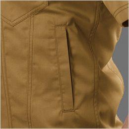 バートル 1716 [春夏用]T/Cライトチノ半袖ジャケット(男女兼用) ポケット付き